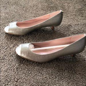 Stuart Weitzman metallic shoes